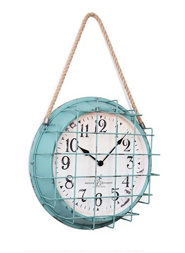 Warm Design Denizci Duvar Saati Mavi
